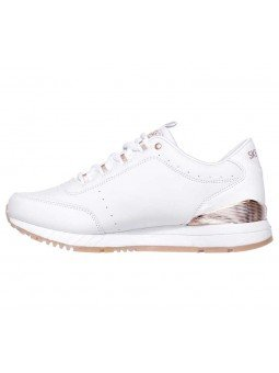 Zapatillas Skechers Originals Street Sunlite Delightfully OG, modelo 907, color blanco WHT, lateral interior