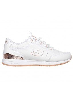 Zapatillas Skechers Originals Street Sunlite Delightfully OG, modelo 907, color blanco WHT, lateral exterior