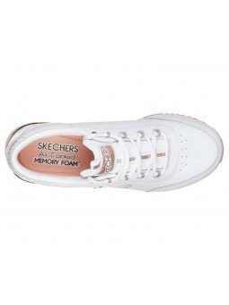 Zapatillas Skechers Originals Street Sunlite Delightfully OG, modelo 907, color blanco WHT, vista aerea