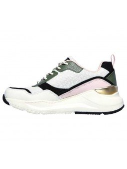 Deportivas Skechers Street Los Angeles Rovina Chic Shattering, modelo 155011, color blanco OFPK, lateral interior
