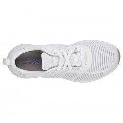 Zapatillas Skechers Sport Bobs Squad Glam League, modelo 31347, color blanco WHT, vista aerea