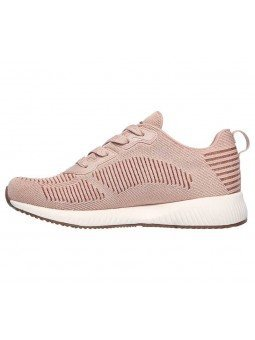 Zapatillas Skechers Sport Bobs Squad Glam League, modelo 31347, color rosa BLSH, lateral interior
