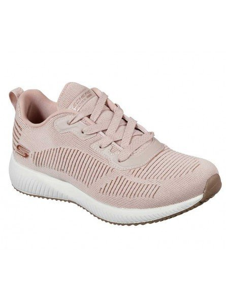 Zapatillas Skechers Sport Bobs Squad Glam League, modelo 31347, color rosa BLSH