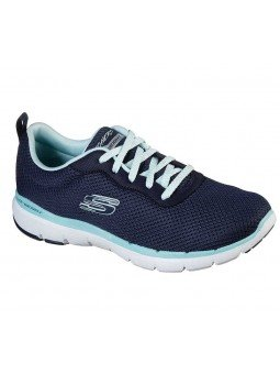 Zapatilla Skechers Flex Appeal 3.0 First Insight, modelo 13070, color marino NVAQ