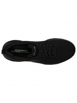 Zapatilla skechers Sport Summits Brisbane, modelo 232057, color negro BBK, vista aerea