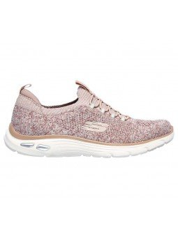 Deportivo Skechers Relaxed Fit Empire D'Lux Sharp Witted, modelo 149007, color rosa ROS, lateral exterior
