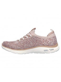 Deportivo Skechers Relaxed Fit Empire D'Lux Sharp Witted, modelo 149007, color rosa ROS, lateral interior