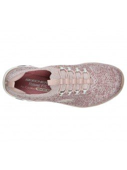Deportivo Skechers Relaxed Fit Empire D'Lux Sharp Witted, modelo 149007, color rosa ROS, vista aerea