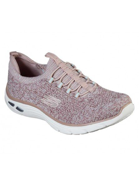 Deportivo Skechers Relaxed Fit Empire D'Lux Sharp Witted, modelo 149007, color rosa ROS