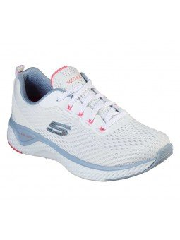 Zapatilla Skechers Solar Fuse Cosmic View, modelo 149051, color blanco WBLP