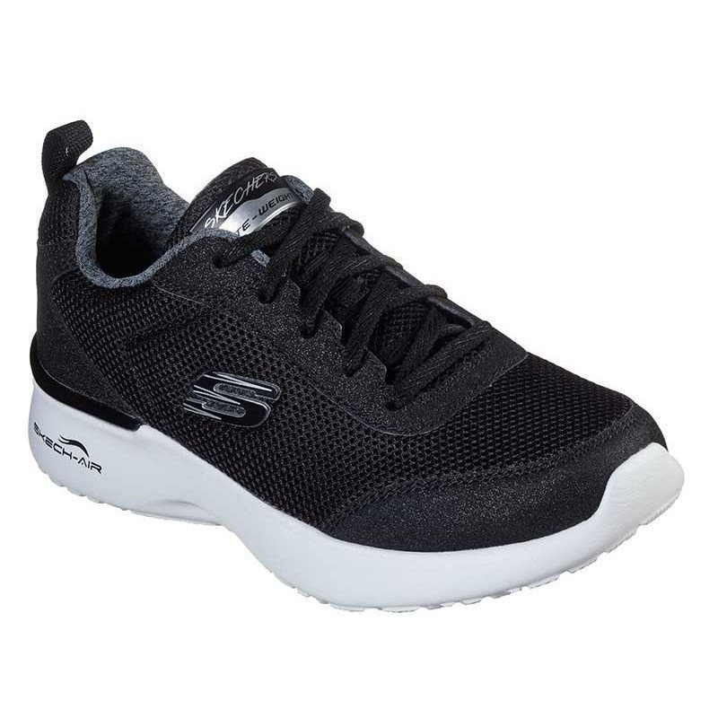 Zapatilla Skechers Skech-Air Dynamight Fast Brake, modelo 12947, color negro BKW