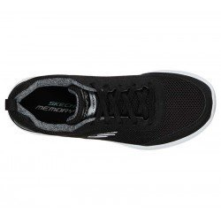 Zapatilla Skechers Skech-Air Dynamight Fast Brake, modelo 12947, color negro BKW, vista aerea