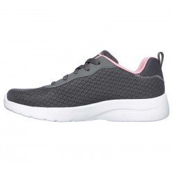 Zapatilla Skechers Sport Dynamight 2.0 Eye To Eye, modelo 12964, color gris CCCL, lateral interior