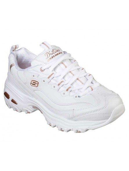 Zapatillas Skechers D´Lites Fresh Strat, modelo 11931, color blanco WTRG