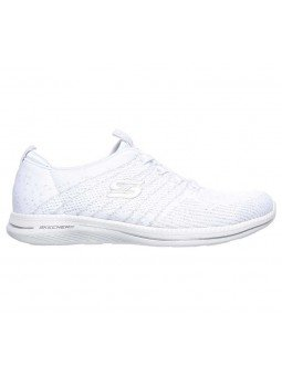 Zapatillas Skechers Sport Active Ity Pro Glow On, modelo 104015, color blanco WSL, lateral exterior