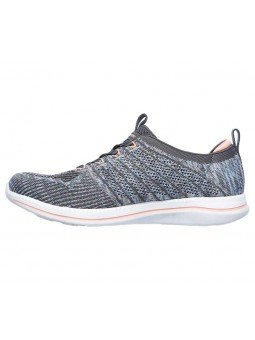 Zapatillas Skechers Sport Active City Pro Busy, modelo 104023, color gris GYPK, lateral interior