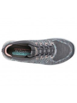 Zapatillas Skechers Sport Active City Pro Busy, modelo 104023, color gris GYPK, vista aerea