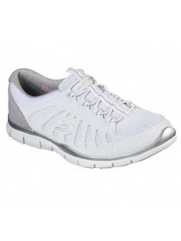 Zapatillas Skechers Sport Active Gratis Comfy, modelo 104031, color blanco WHT
