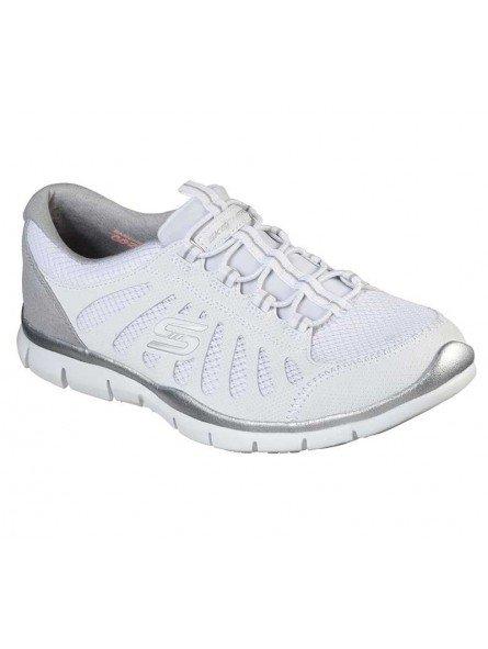 Zapatillas Skechers Sport Active Gratis Comfy, modelo 104031, color blanco WHT