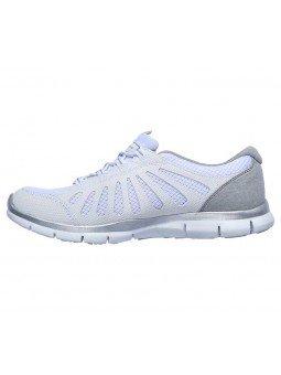 Zapatillas Skechers Sport Active Gratis Comfy, modelo 104031, color blanco WHT, lateral interior