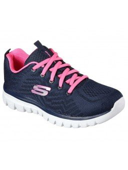 Zapatilla Skechers Online Graceful Get Connected, modelo 12615, color marino NVHP