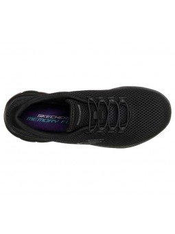 Zapatillas Skechers Sport Summits Quick Lapse, modelo 12985, color negro BBK, vista aerea