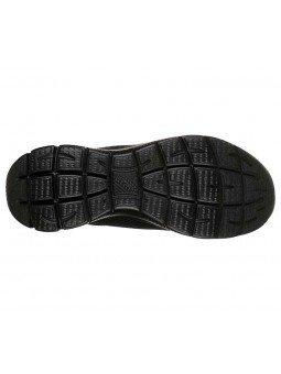 Zapatillas Skechers Sport Summits Quick Lapse, modelo 12985, color negro BBK, suela