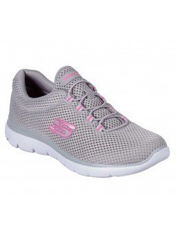 Zapatillas Skechers Sport Summits Quick Lapse, modelo 12985, color gris GYHP