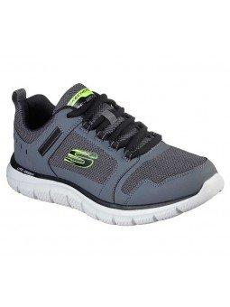 Zapatillas Skechers Online Sport Track Knockhill, modelo 232001, color gris CCBK