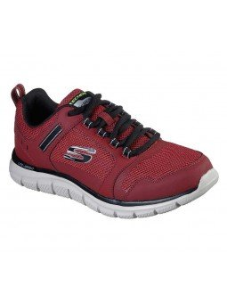 Zapatillas Skechers Online Sport Track Knockhill, modelo 232001, color burdeos BUBK