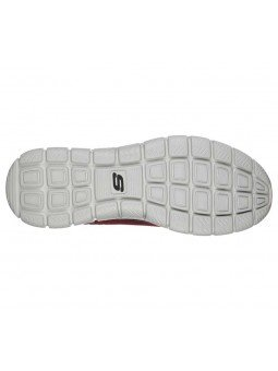 Zapatillas Skechers Online Sport Track Knockhill, modelo 232001, color burdeos BUBK, suela