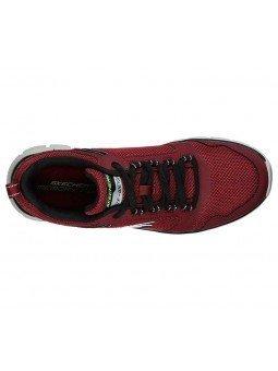 Zapatillas Skechers Online Sport Track Knockhill, modelo 232001, color burdeos BUBK, vista aerea