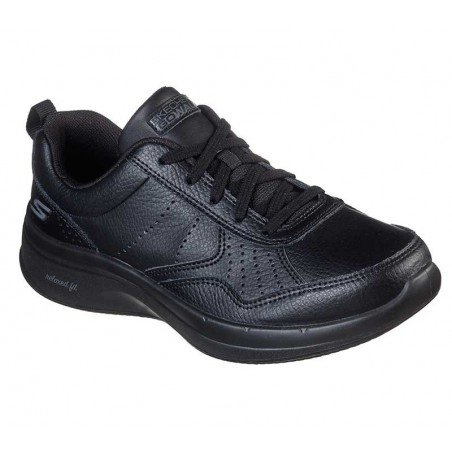 Zapatilla Skechers Online Performance Go Walk Steady, modelo 124111, color negro BBK