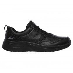 Zapatilla Skechers Online Performance Go Walk Steady, modelo 124111, color negro BBK, lateral exterior