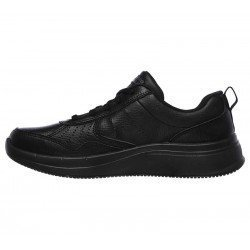 Zapatilla Skechers Online Performance Go Walk Steady, modelo 124111, color negro BBK, lateral interior