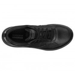 Zapatilla Skechers Online Performance Go Walk Steady, modelo 124111, color negro BBK, vista aerea