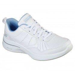 Zapatilla Skechers Online Performance Go Walk Steady, modelo 124111, color blanco WBL