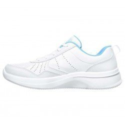 Zapatilla Skechers Online Performance Go Walk Steady, modelo 124111, color blanco WBL, lateral interior