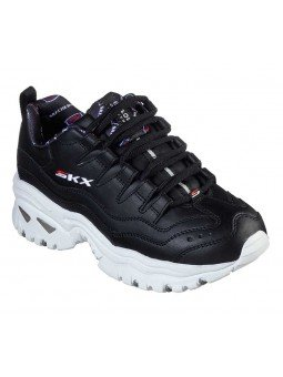 Zapatillas Skechers Online Energy Retro  Vision, modelo 13425, color negro BKW