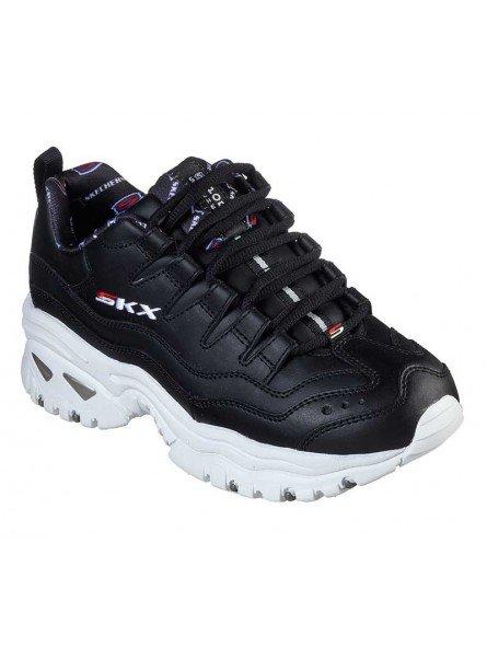 Zapatillas Skechers Online Energy Retro  Vision, modelo 13425, color negro BKW