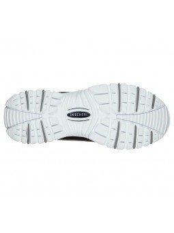 Zapatillas Skechers Online Energy Retro  Vision, modelo 13425, color negro BKW, suela
