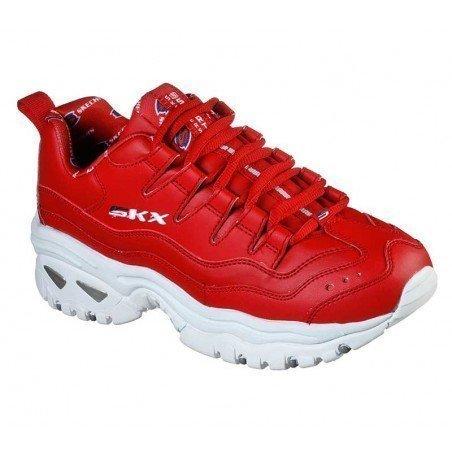 Zapatillas Skechers Online Energy Retro  Vision, modelo 13425, color rojo RED