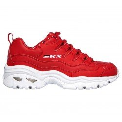 Zapatillas Skechers Online Energy Retro  Vision, modelo 13425, color rojo RED, lateral exterior