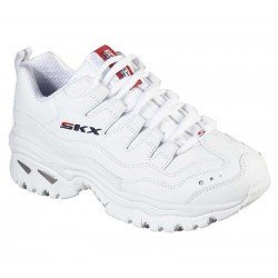 Zapatillas Skechers Online Energy Timless Vision, modelo 13423, color blanco WML