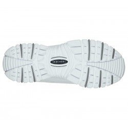 Zapatillas Skechers Online Energy Timless Vision, modelo 13423, color blanco WML, suela