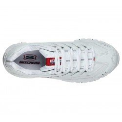 Zapatillas Skechers Online Energy Timless Vision, modelo 13423, color blanco WML, vista aerea