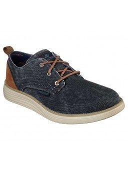 Compra zapatos Skechers Classic Fit Status 2.0 Pexton, modelo 65910, color marino NVY