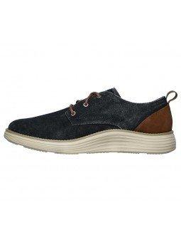 Compra zapatos Skechers Classic Fit Status 2.0 Pexton, modelo 65910, color marino NVY, lateral interior