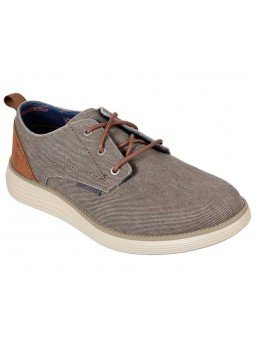 Compra zapatos Skechers Classic Fit Status 2.0 Pexton, modelo 65910, color taupe TPE