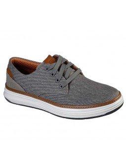 Zapatos Skechers Classic Fit Moreno Ederson, modelo 65981, color taupe TPE